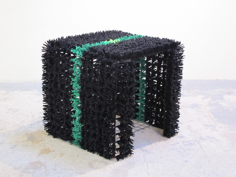 'Three Thousand Pipe Cleaners' (2010) // Chenille stems, steel mesh, cable ties // 70x70x70cm // Photograph by Tim Gresham