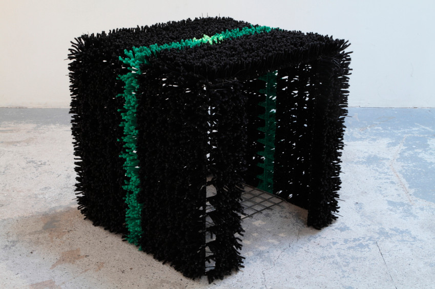 '3000 pipe cleaners' (2009) // Chenille stems, wire mesh, cable ties // 60cm x 60cm x 60cm // Photograph by Tim Gresham