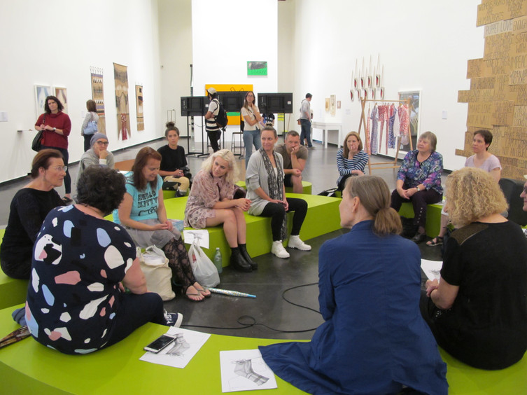 WAR Stories: Womens Art Register at The Roundtable (2015) // Australian Centre for Contemporary Art (ACCA) // Photograph by Caroline Phillips