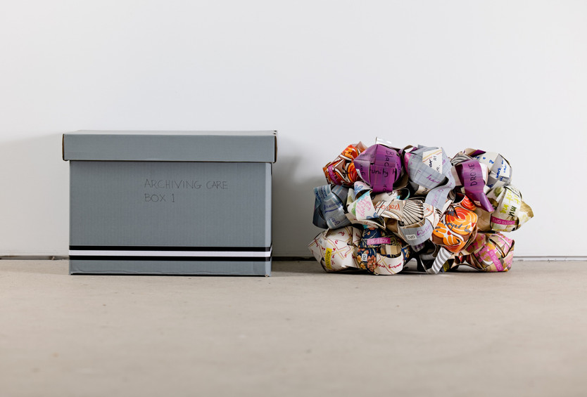 'Archiving Care Box 1' (2019/20) // Installation view, Southwest Contemporary // Curated by Bronia Iwańczak