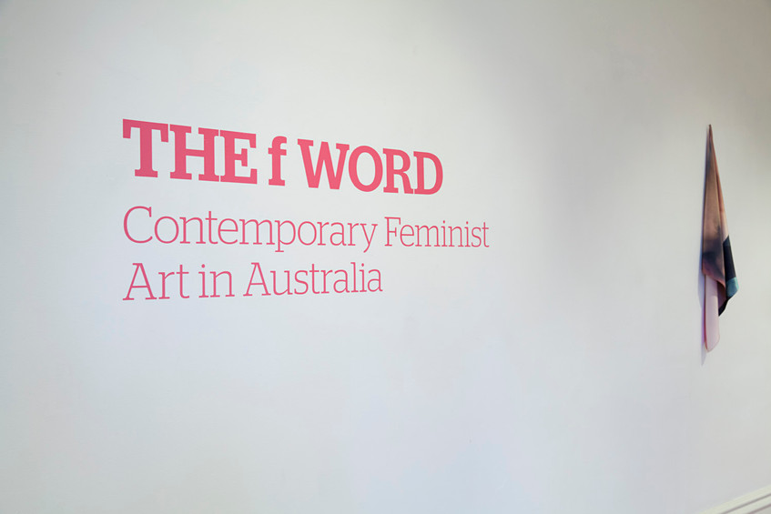 THE f WORD // installation view at Ararat Gallery TAMA // Photograph by Clare Rae