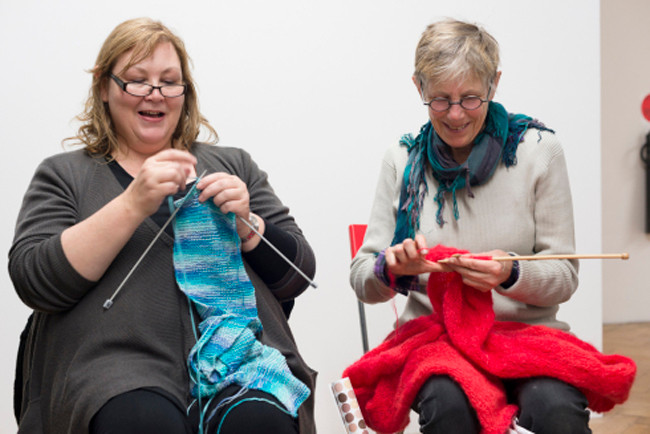 A Dinner Party: Setting theTable // 'Knitting Circle' // Photograph by Catherine Evans