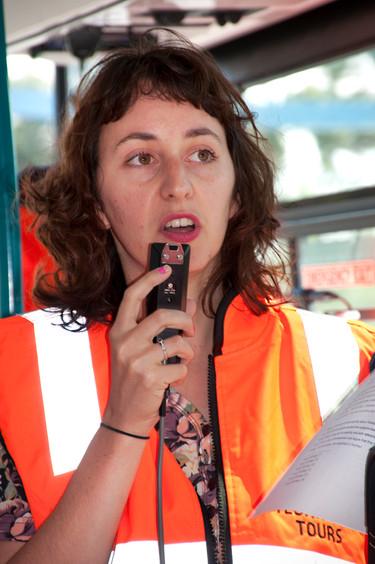THE f WORD public program // Technopia Tours Feminist Art Bus 2014 // Laura Castagnini // Photograph by Kate Robertson