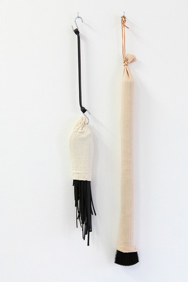 'Dysfunction' (2013) // Recycled cotton and elastic, plastic, leather, rubber octopus straps, synthetic rope and found objects // dimensions variable // Photograph by Alison Fairley