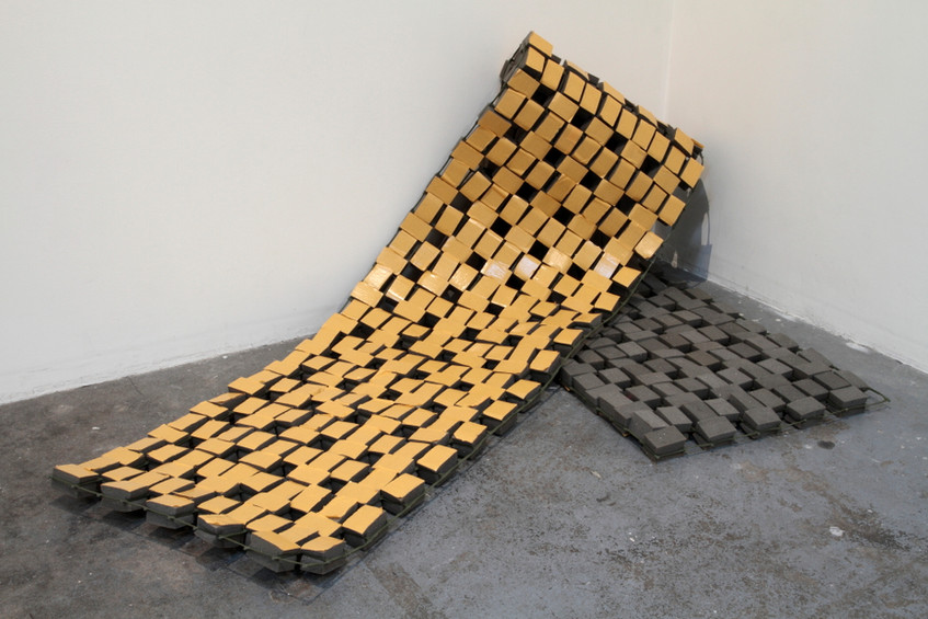 'Slump' (2009) // Recycled foam rubber, plastic mesh // Photograph by Tim Gresham