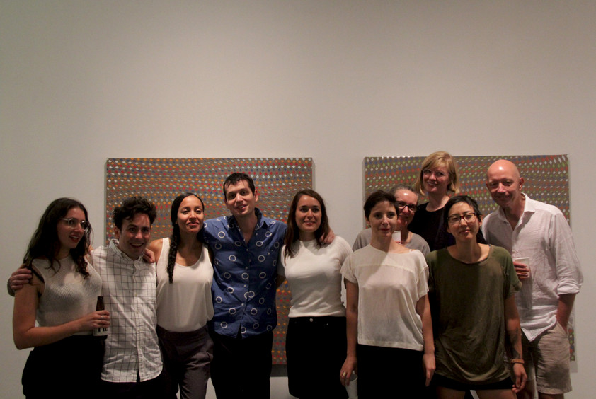 Exhibiting artists and studio residents of the NARS International Studio Program Summer 2017. At Various Existential Angsts opening night at NARS Foundation Gallery in Brooklyn, NY