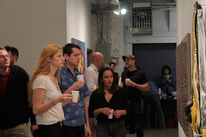 Various Existential Angsts opening night at NARS Foundation Gallery in Brooklyn, NY