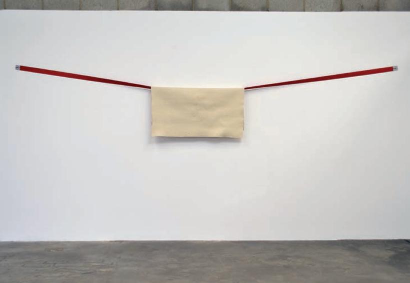 'Hang Up #1' (2014) // Recycled safety belt, felt // 400cm x 100cm x 20cm