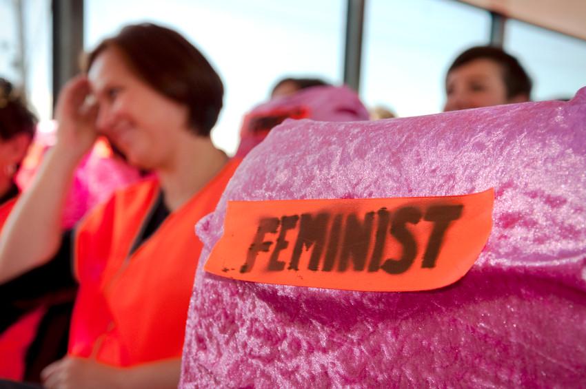 THE f WORD public program // Technopia Tours Feminist Art Bus 2014 // Photograph by Kate Robertson