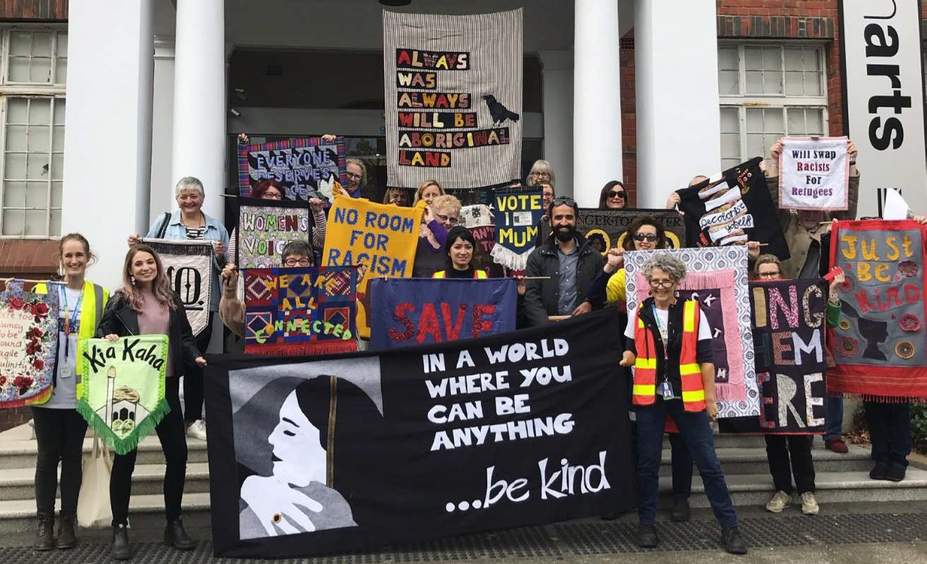 Crafting Resistance—Six Moments inKingston // 'Banner March #12' // Photograph courtesy of Tal Fitzpatrick