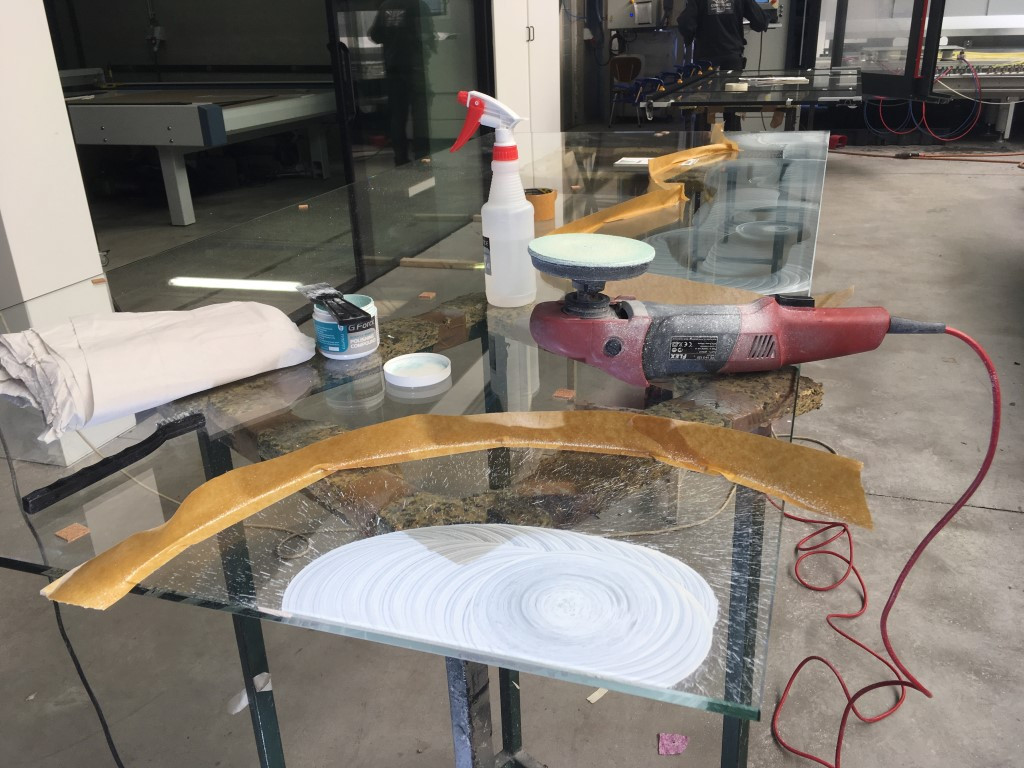 verwijderen krassen in atelier