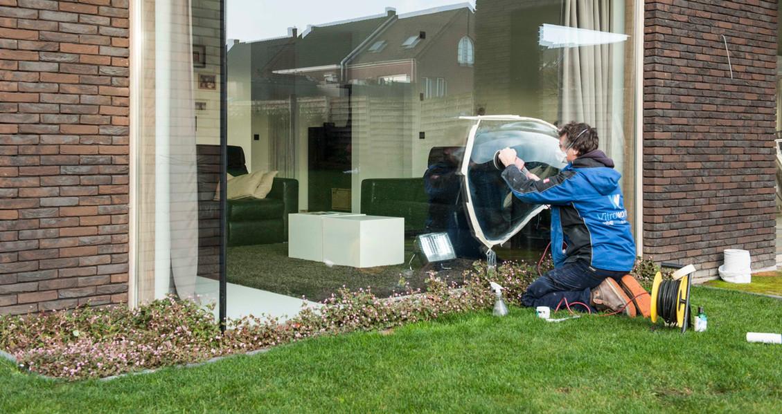 verwijderen kras uit raam