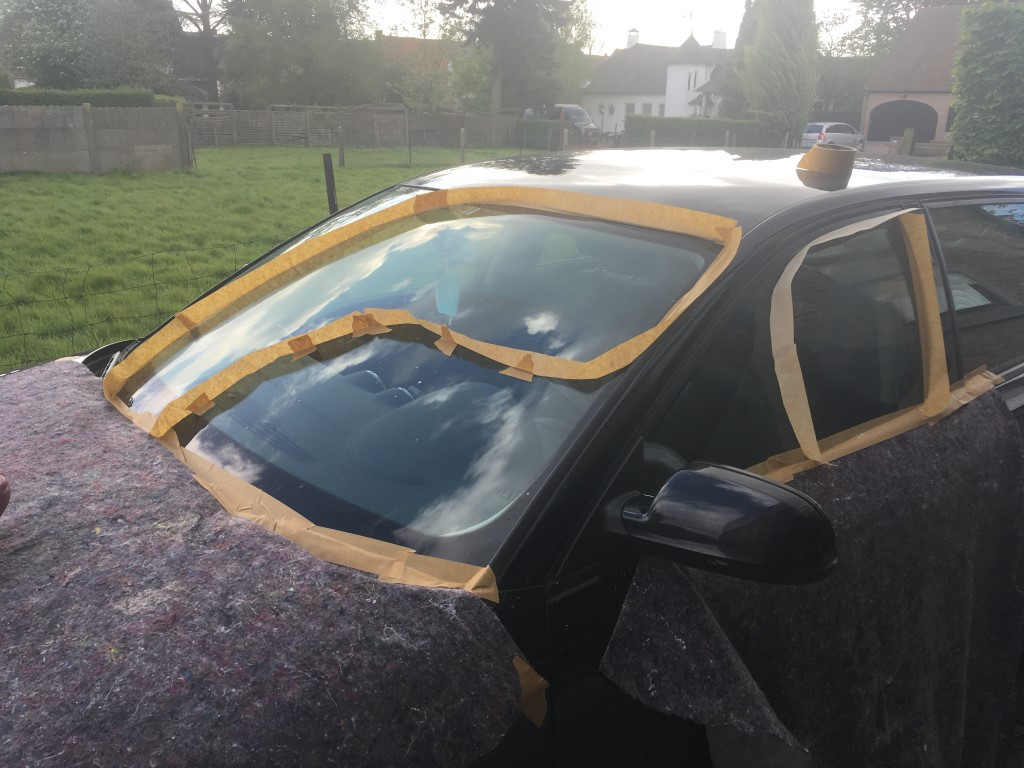 krassen voorruit auto