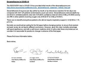 COVID-19 Therapeutic Alert; Dexamethasone in the treatment of COVID-19