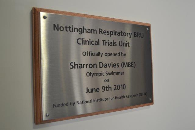 Nottingham RRU CTU Plaque
