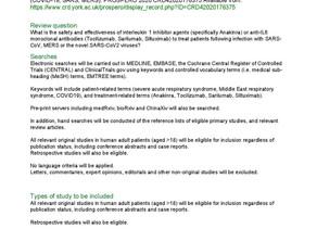 PROSPERO Protocol; Anakinra, Tocilizumab, Sarilumab & Siltuximab for coronavirus related infections