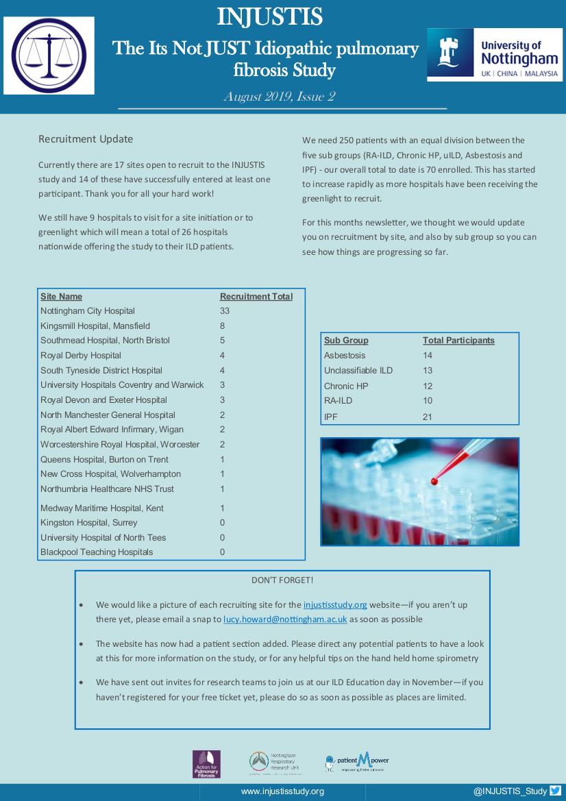 INJUSTIS Study Newsletter, Issue 1 June 2019
