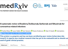 Systematic review of Anakinra, Tocilizumab, Sarilumab & Siltuximab for coronavirus-related infection