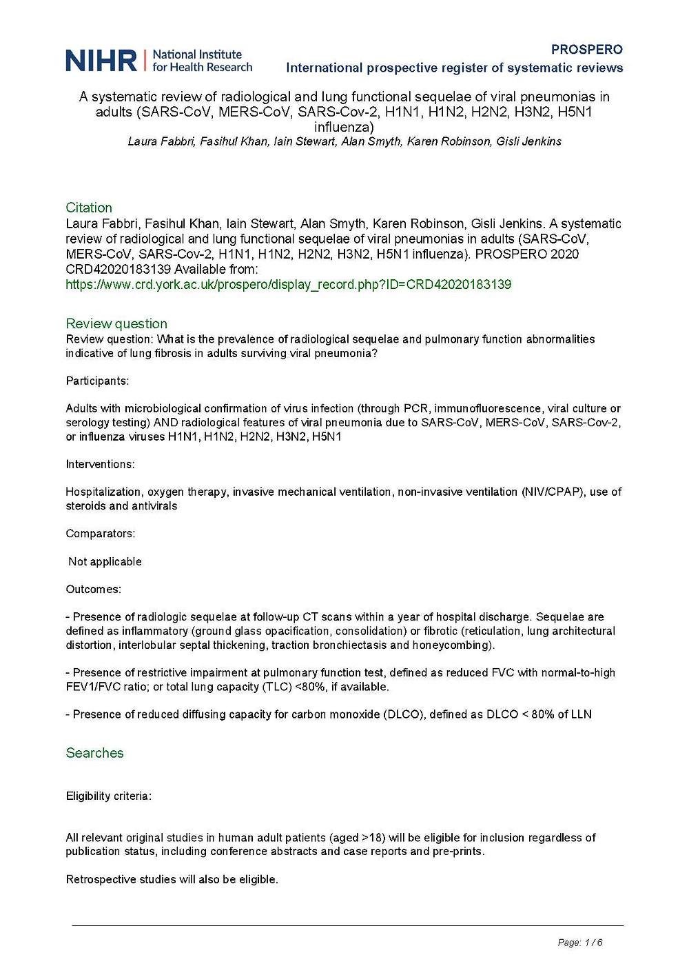 PROSPERO Protocol CRD42020183139
