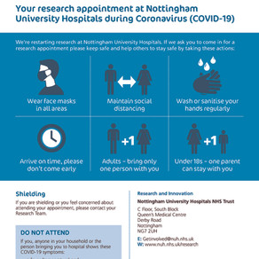 Research Restart at NUH; Keeping research patients/participants and staff safe during COVID-19