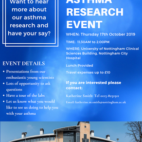 Asthma Research Event. Have Your Say in our Research