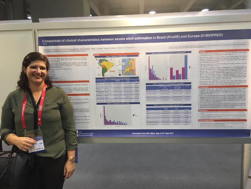 Dr Paula Almeida Poster Presentation on the Comparison of Clinical Characteristics between Severe Adult Asthmatics in Brazil (ProAR) and Europe (U-BIOPRED)