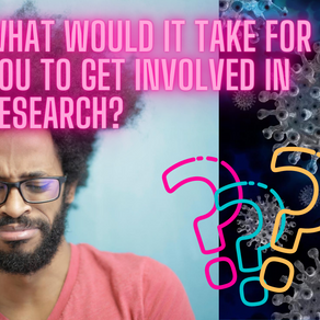 What would it take to get you involved in research? Take our Survey