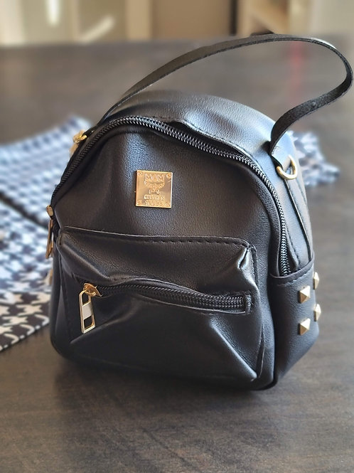 Tiny Black Backpack
