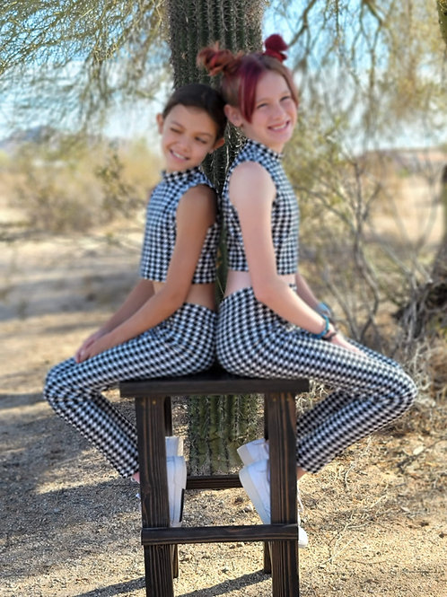 Houndstooth Crop and Leggings Set