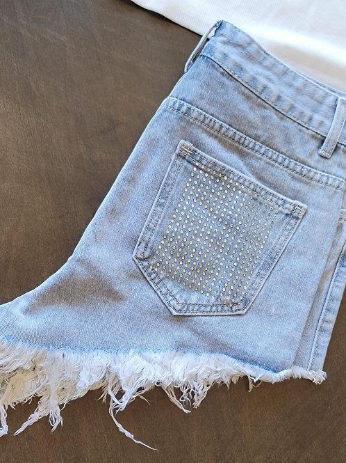 Rhinestone Denim Shorts