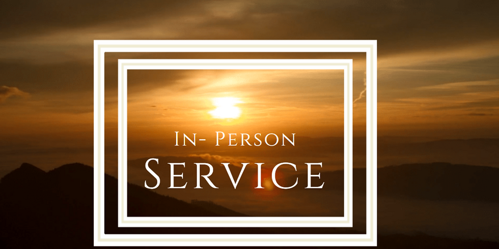 April 4 - In-Person Easter Sunday Service
