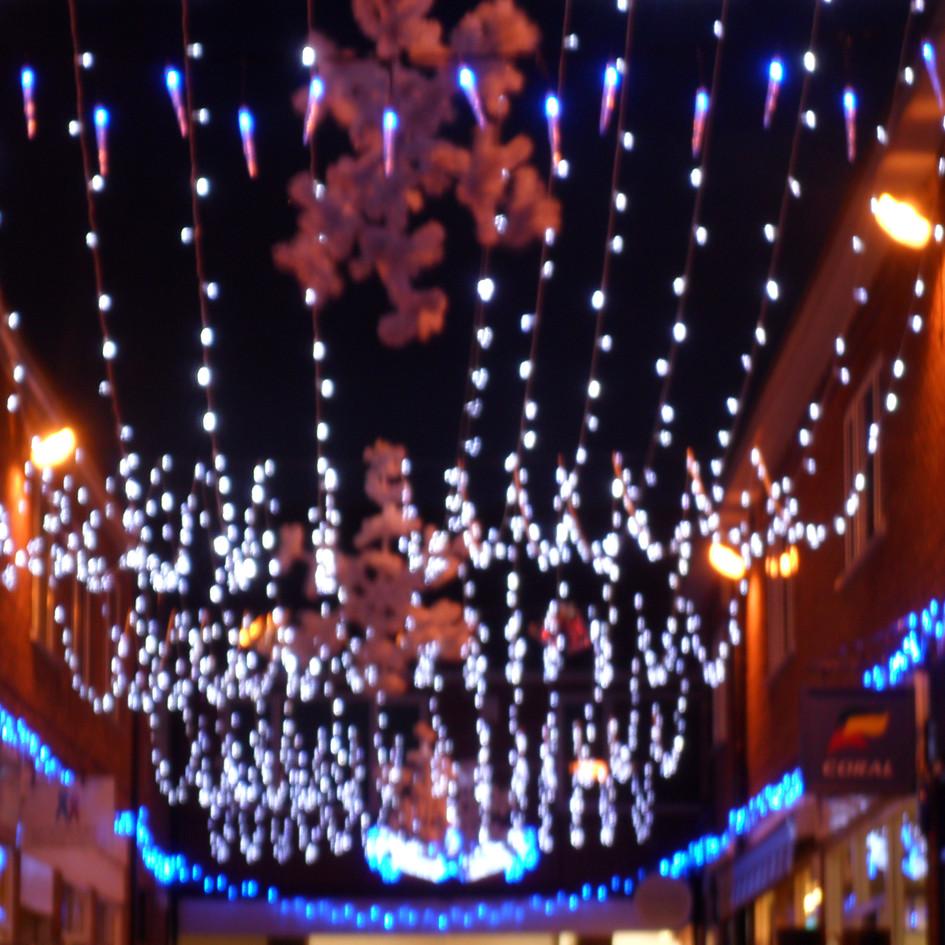 Street Christmas Light Installation
