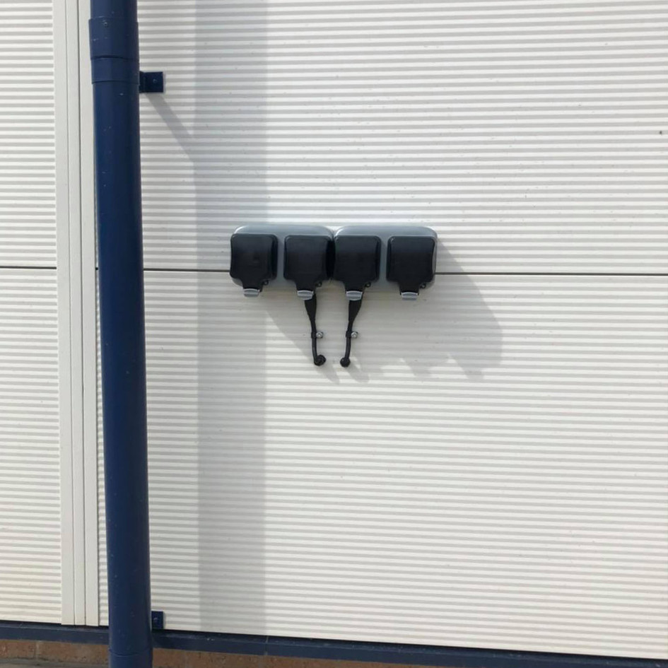 Installation of Electric Car charging sockets.