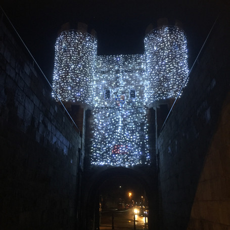 Christmas lights in the City of York