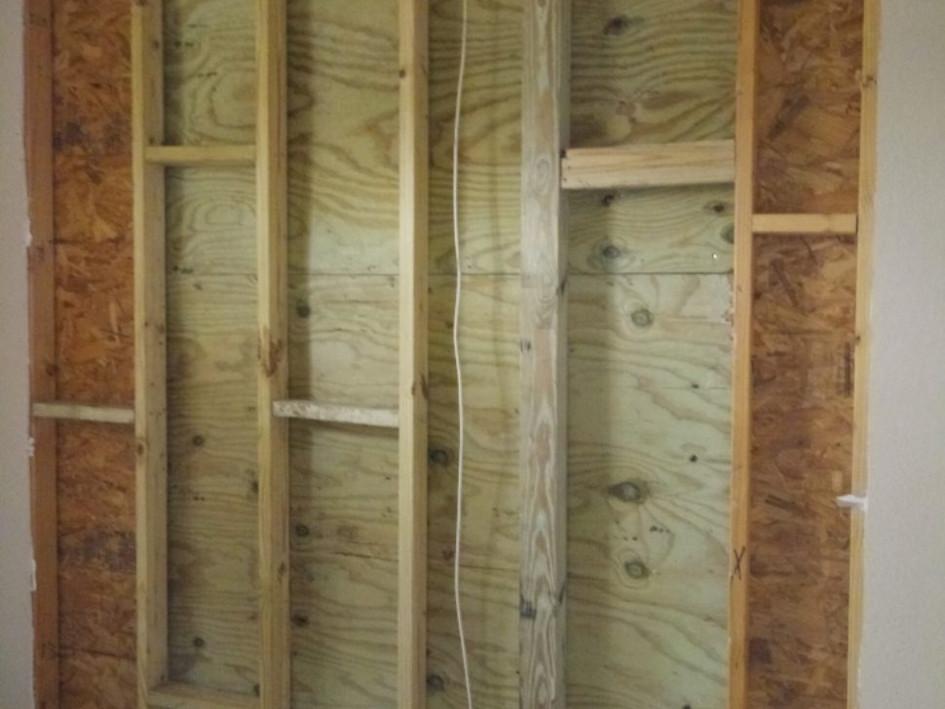 New Interior Wall Framing