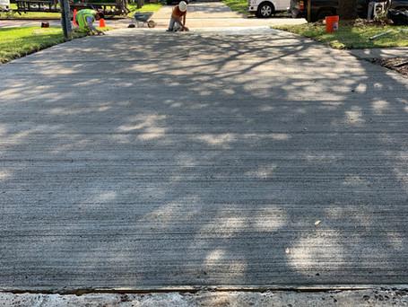 1100 sq.ft. Concrete Driveway