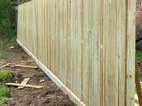 90 ft. of Treated Pine fencing