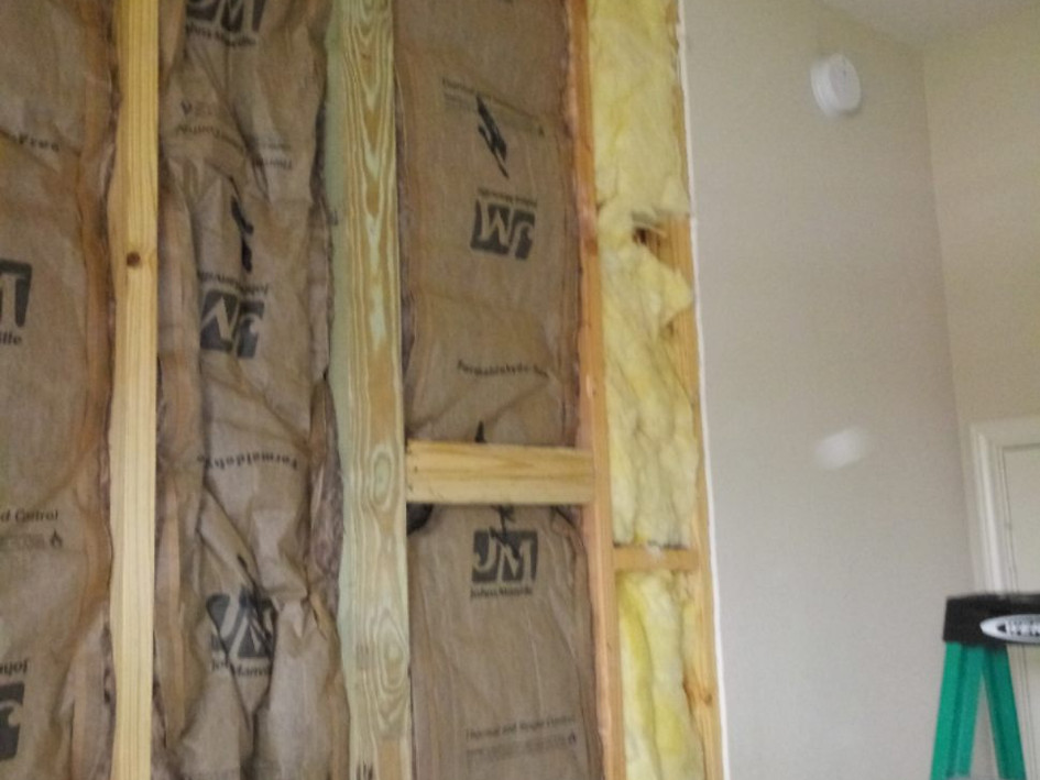 New Interior Wall Insulation