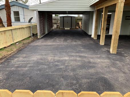 1200 sq.ft. of Asphalt Driveway
