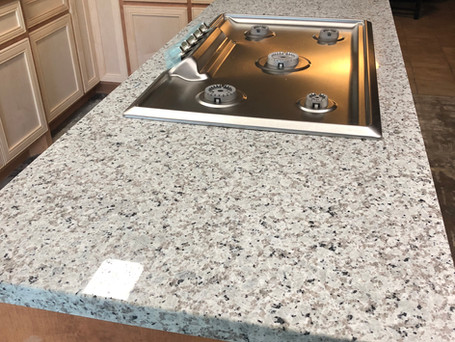 Luna Pearl Granite install