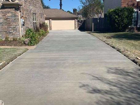 1650 sq.ft Concrete Driveway