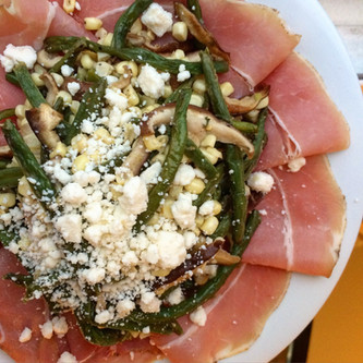 Roasted String Bean Salad with Prosciutto