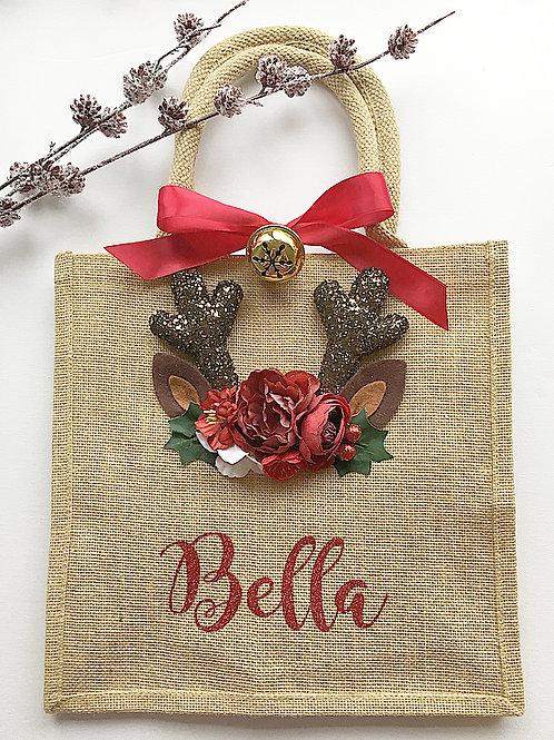 Personalised Christmas jute bag