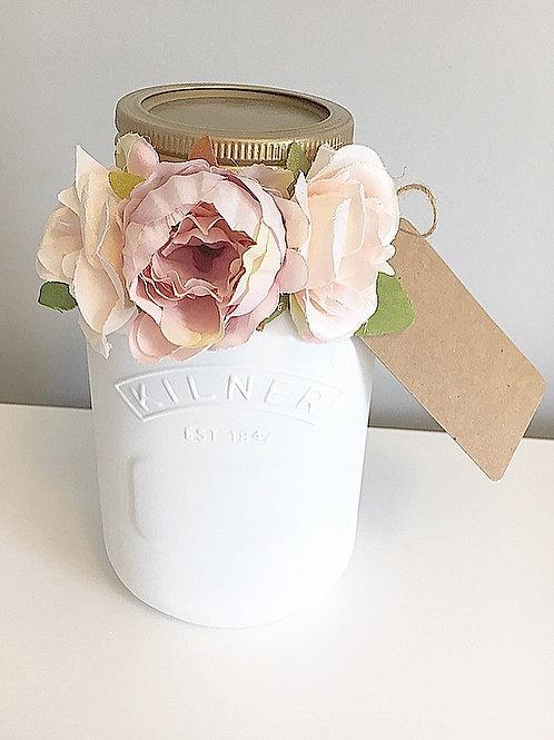 Floral Money Jar