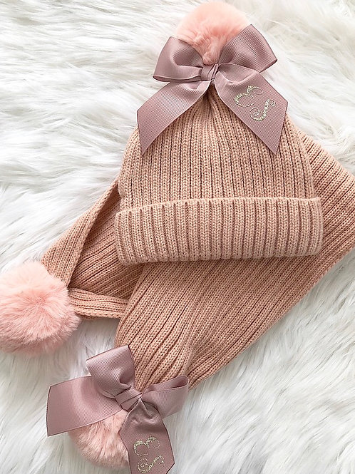 Matching hat & scarf sets - Bow