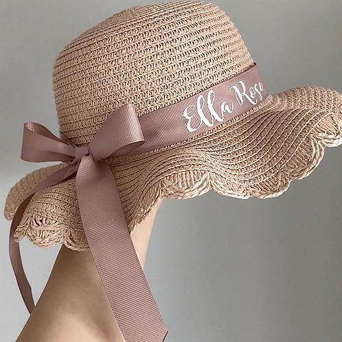 PREORDER - Childs Blush Frilly Summer Hat