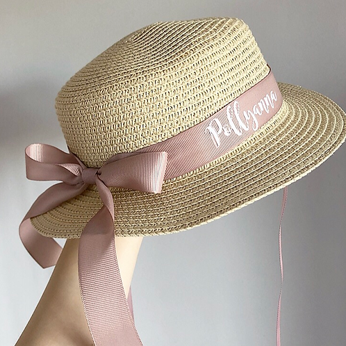 PREORDER - Mummy Natural Boater Style Hat