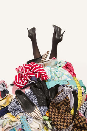 Woman Legs Reaching Out From A Big Pile