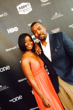 Russell with co-star Erica Tazel
