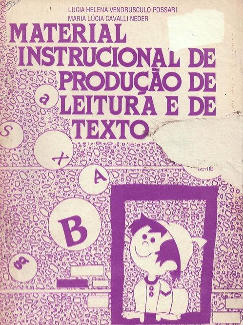 MATERIAL INSTRUCIONAL DE PRODUÇÃO DE LEITURA E DE TEXTO: 8ª SÉRIE